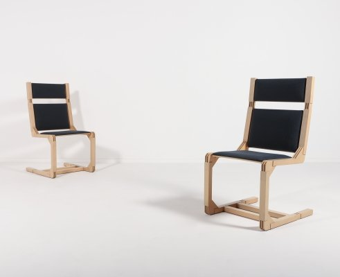 Pair of Architectural chairs, Denmark 1990's