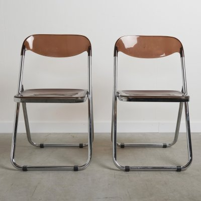Set of two vintage folding chairs, Italy 1970s