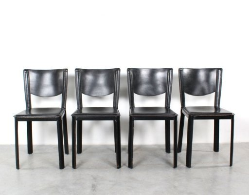 Set of 4 dining chairs by Grassi & Bianchi for Pellizzoni, 1980s