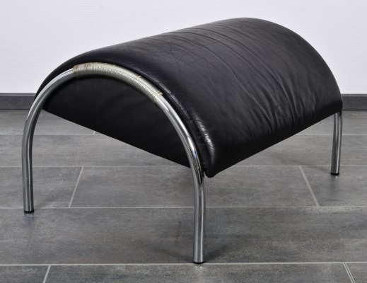 Rare leather hocker for a Zyklus lounge chair by Peter Maly for Cor