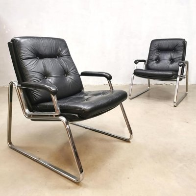 Vintage design arm chairs by Gerd Lange for Drabert, 1970s