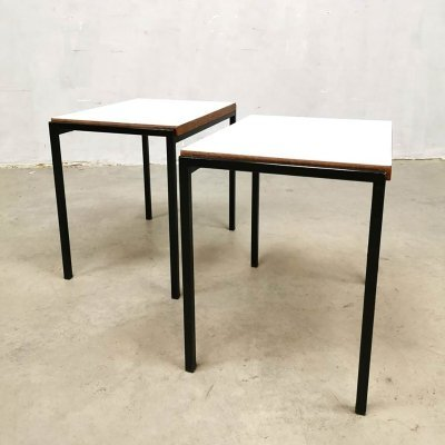 Vintage design minimalist nesting tables by Cees Braakman for Pastoe, 1960s