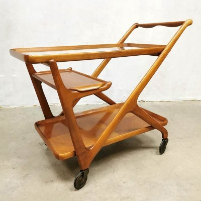 Italian vintage design serving trolley by Cesare Lacca for Cassina