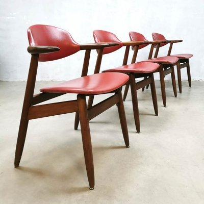 Vintage design cowhorn dining chairs by Tijsseling for Hulmefa