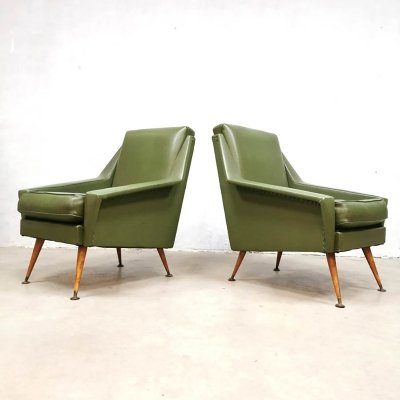 Fifties midcentury design lounge chairs