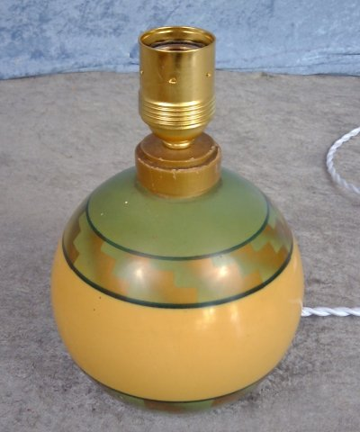 Art Deco table lamp in painted wood, 1920/30's