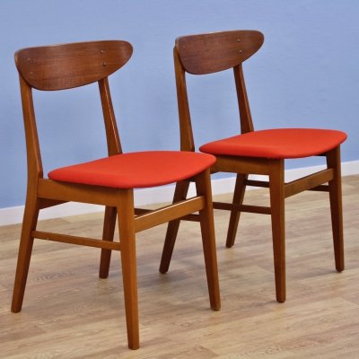 Set of 2 Danish dining chairs in teak by Farstrup Møbler, 1960s