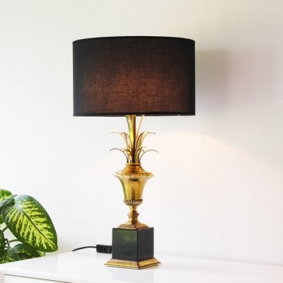 Palm Leaf Table Lamp by Massive, 1970s