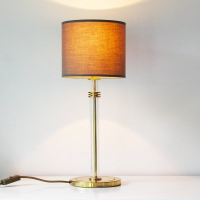 Lucite & Brass German Table Lamp, 1970's