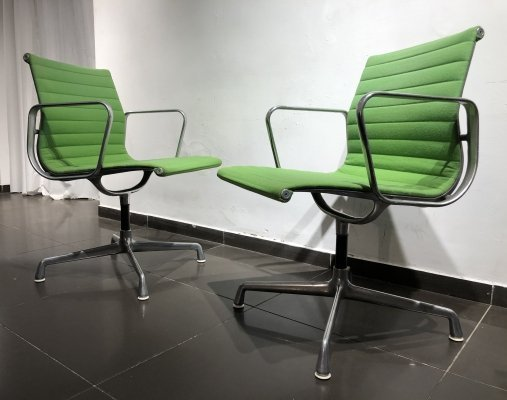 Pair of 'EA108' Chairs by Charles & Ray Eames for Herman Miller, 1950s
