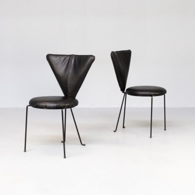 Pair of Lubke side chairs in Memphis Style, 1990s