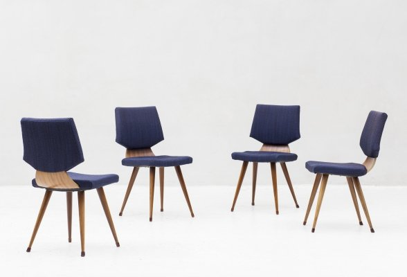 Set of 4 dining chairs, the Netherlands 1960