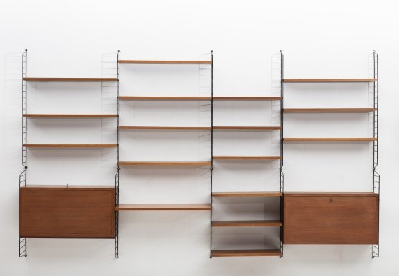 4-piece wall unit by Nisse Strinning for String AB, Sweden 1950