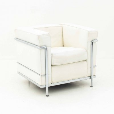 White Le Corbusier LC2 Lounge Chair for Cassina, 1960s
