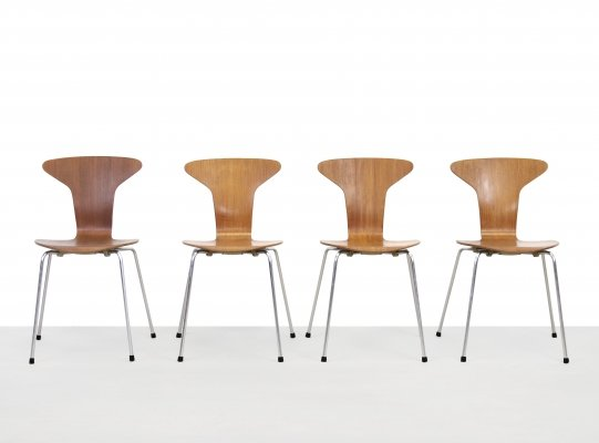 Set of 4 Mosquito dining chairs by Arne Jacobsen for Fritz Hansen, 1960s