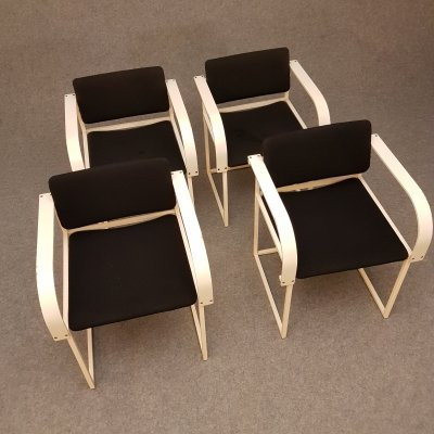 Set of 4 'FM80' dining chairs by Mazairac & Boonzaaijer for Pastoe, 1980s