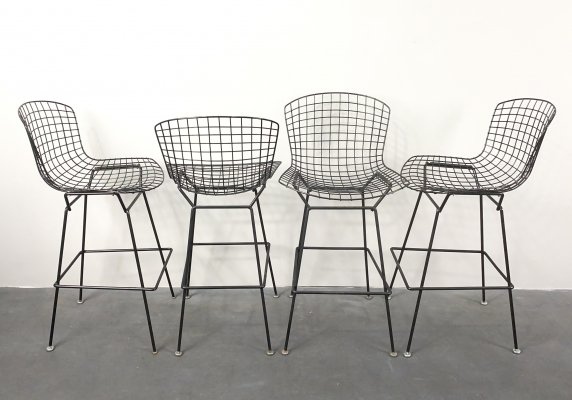 Set of 4 Bar Stools by Harry Bertoia for Knoll International, USA 1960s