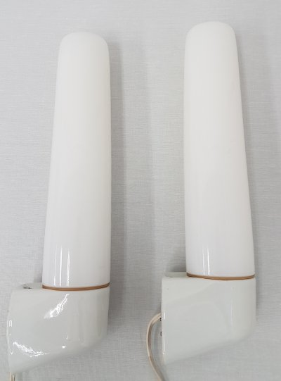 Set of 2 single '6061' wall lamps by Wilhelm Wagenfeld for Lindner Leuchten, 1960s