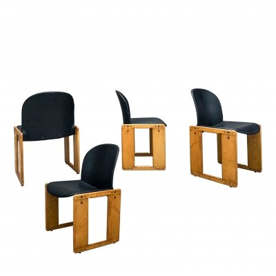 Set of 4 dining chairs by Tobia Scarpa & Afra Scarpa for B & B Italia, 1970s