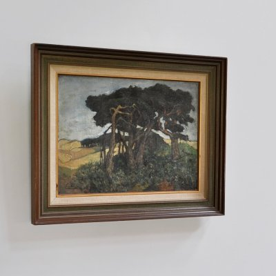 Oil on canvas by Christiaan le Roy, Dutch painter, signed May 1919