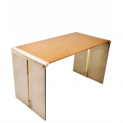Galotti & Radice Desk with Hermes Leather, 1970s