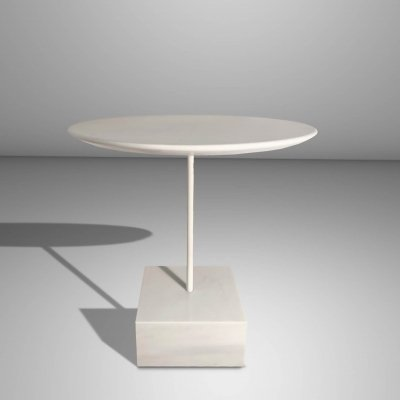 Lacquered Metal & White Marble 'Primavera' Coffee Table by E.Sottsass, 1990s