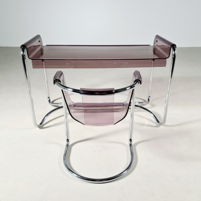 Fabio Lenci desk with matching chair by Formes Nouvelle, 1970s