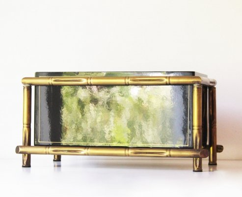 Brass Faux Bamboo Planter by Maison Bagues, 1960's