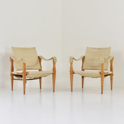 Set of two 'Safari' lounge chairs from Denmark, 1960's