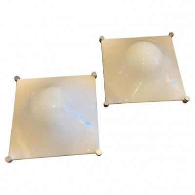 Set of two Huge Space Age Bolla Wall Lights by Elio Martinelli, 1960s
