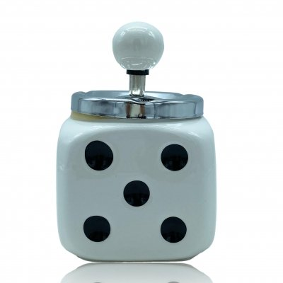 Ceramic ashtray in the shape of a dice, 1970s