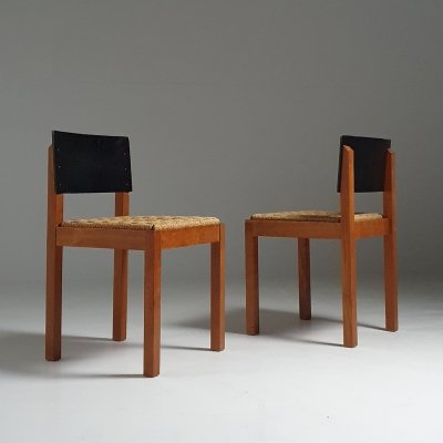 Rare 1930s set of Multi Pro chairs by Architect Wouda