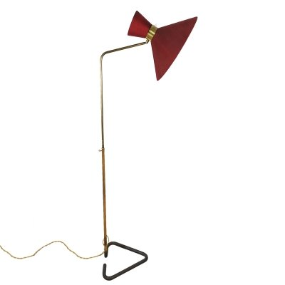 Diabolo standing lamp by Lunel, France 1950