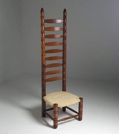 Decorative high back chair, 1980s