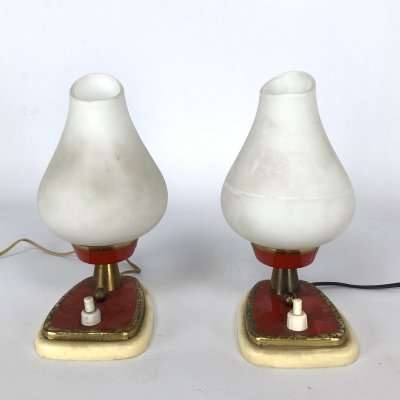 Pair of midcentury Italian table lamps or sconces, 1950s