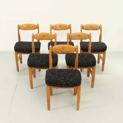 Set of Six Lorraine Dining Chairs by Guillerme et Chambron