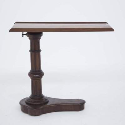 Victorian Era English Adjustable Serving Table in Wood