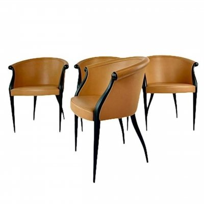 Set of Design Dining Chairs, 1970s/1980s