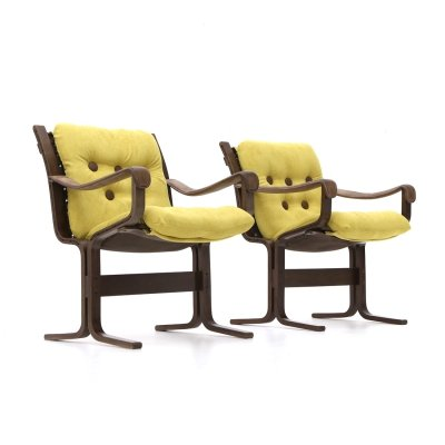 Pair of armchairs by Ingmar Relling for Westnofa, 1970's