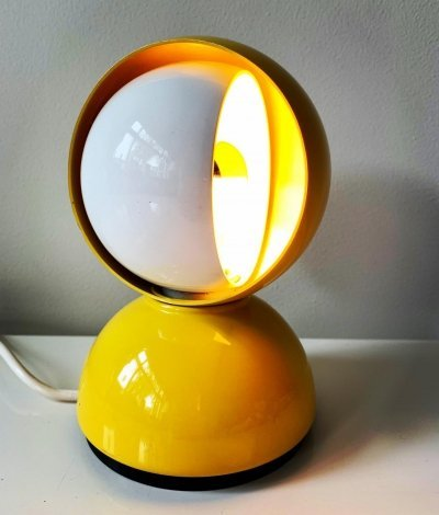 Bright yellow Eclisse lamp by Vico Magistretti for Artemide, 1970s
