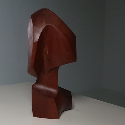 1965 Amorphic abstract wooden sculpture
