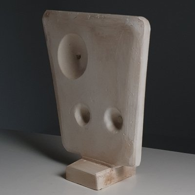 Abstract plaster sculpture, 1970s