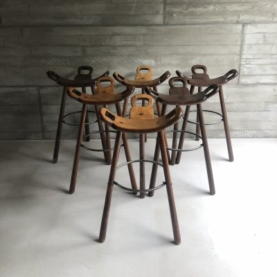 Set of 6 barstools 'Marbella' for Confonorm, 1970s