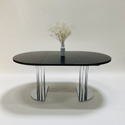 Extendable round bauhaus dining table by Thonet, Germany 1980s