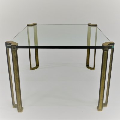 Brass coffee table by Peter Ghyczy for Ghyczy, Netherlands 1970s