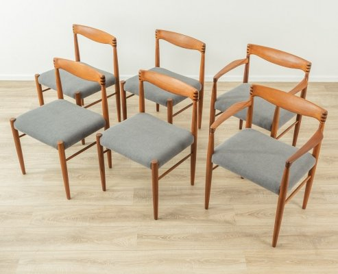 Set of 6 dining chairs by H.W. Klein for Bramin, Denmark 1960s