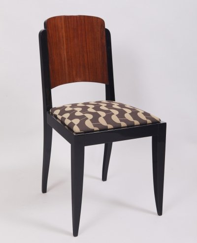 Set of 6 Art Deco chairs by Jules Leleu, France 1920s