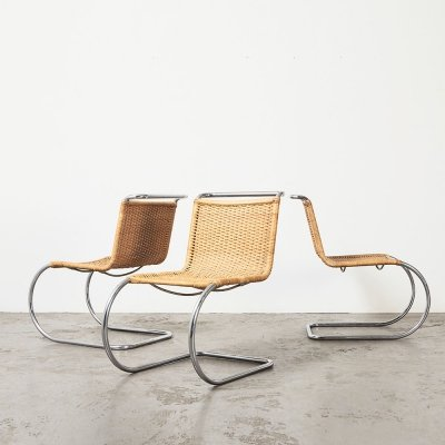Mies van der Rohe set of 3 S533 / MR10 Dining Chairs for Thonet, 1970s