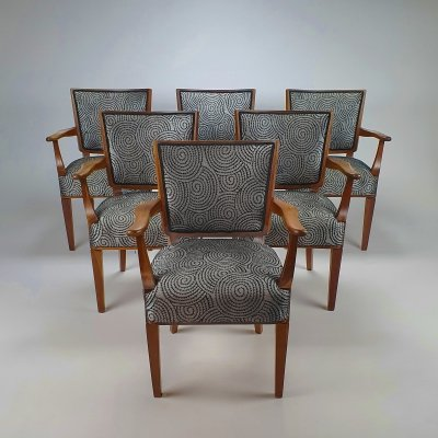 Set of 6 Mid-Century Dutch design arm chairs by W. Kuyper, 1953