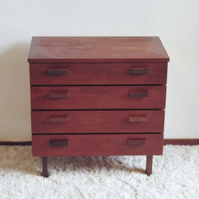 Teak wooden chest of drawers